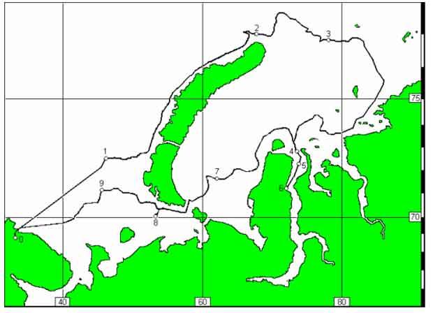 Схема маршрута танкера «Уйкку»